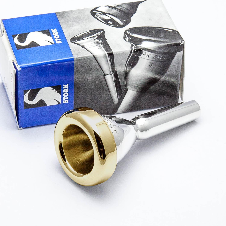 Stork Stork Stork 24K Gold Rim & Cup Small Shank Trombone Mouthpiece, T1 Light Weight 829f19