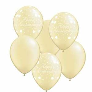 """Pack of 25-12"""" Standard Ivory Latex Balloons for Birthday Party Decoration"""