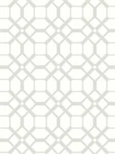 Contemporary Chic Tile Wallpaper Geometric Grey White Norwall Wallcoverings N