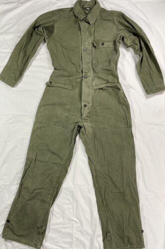 Vtg Army Military Herringbone Green Pants HBT Mech