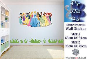 Disney Princess Kids Bedroom Wall Sticker Disney Large Wall Art