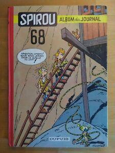 Le-Journal-de-Spirou-Album-N-68-reliure-editeur-Dupuis-1958
