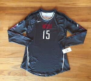 New-Nike-Women-039-s-Med-WSU-Cougars-Speed-Strike-Digital-Volleyball-Game-Jersey-80