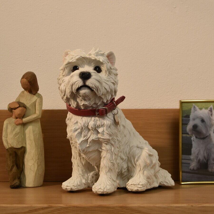 Urna Westie West Highland Terrier cane Memoriale Urna