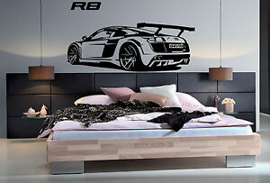 Image Is Loading Audi R8 Personalised Car Vinyl Wall Art Stickers