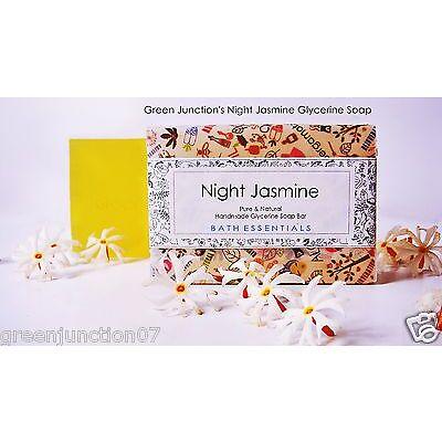 Green Junction's Night Jasmine Glycerine Soap  - Set of Two Soap - ( 150 g each)