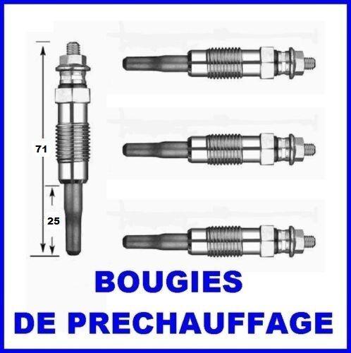 4 BOUGIES DE PRECHAUFFAGE PEUGEOT 306 1.9D 1.9TD