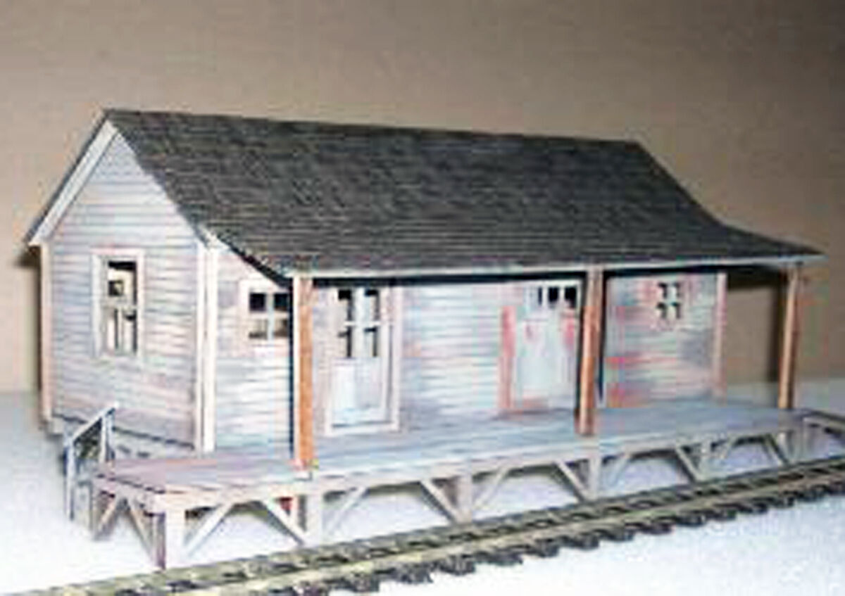 SAM'S FEED & GRAIN O On3 On30 Model Railroad Structure Laser Unpainted Kit DF402