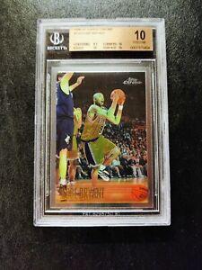 1996-97 Topps Chrome #138 Kobe Bryant Rookie RC BGS 10 Pristine