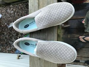 Scholl/'s Shoes Womens Madison Fabric Low Top Slip On Fashion Grayge Size 7 Dr
