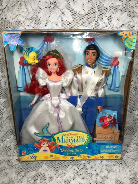 "Disney Store Ariel Classic Doll /& Prince Eric Classic Doll12"" Little Mermaid NEW"