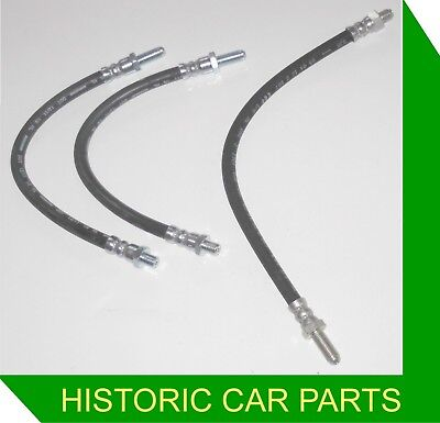PAIR OF FRONT BRAKE HOSES FOR MG MIDGET MK1 WITH DRUM BRAKES