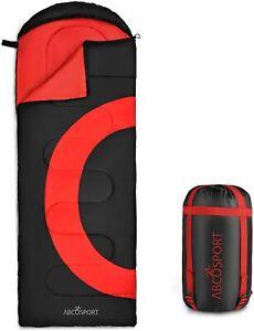 Abco Tech Sleeping Bag Envelope Lightweight Portable 3 Season Compression Sack