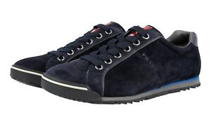 f5ffc36b Details about AUTH LUXURY PRADA SNEAKERS SHOES 4E2719 BLUE SUEDE NEW US 8  EU 41 41,5