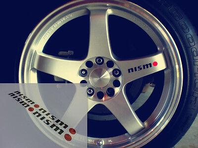 4 X Nismo Skyline GTR R34 R35 R36 silvia s17 s15 JDM Wheel Vinyl Decal Sticker 3