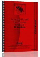 International Harvester 80 Combine Parts Manual