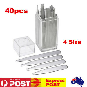 40pcs-Stainless-Steel-Metal-Collar-Stays-Collar-Stay-Stiffener-4-Sizes