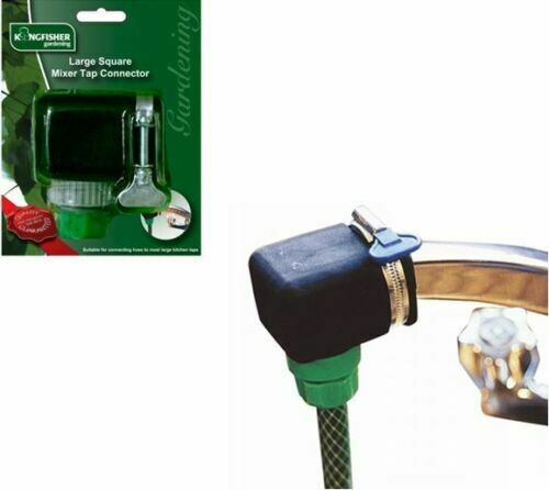 NEW LARGE SQUARE MIXER KITCHEN TAP TO GARDEN HOSE PIPE CONNECTOR ADAPTER