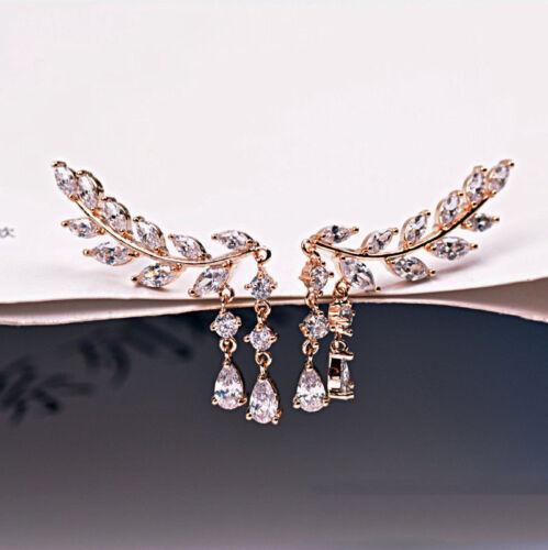 Luxury Shiny Crystal Women Party Dangle Long Tassels Hook Drop Linear Earrings
