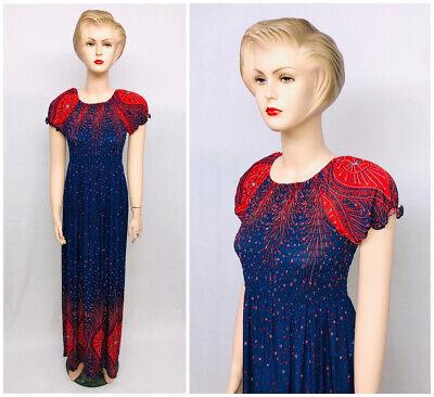 Intelligent New Womens Beautiful Long Maxi Summer Dress Polka Dot Holiday Beach One Size
