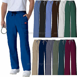 1841f6de2c3 Image is loading Dickies-Scrub-Pants-Mens-Youtility-Medical-Scrubs -Drawstring-