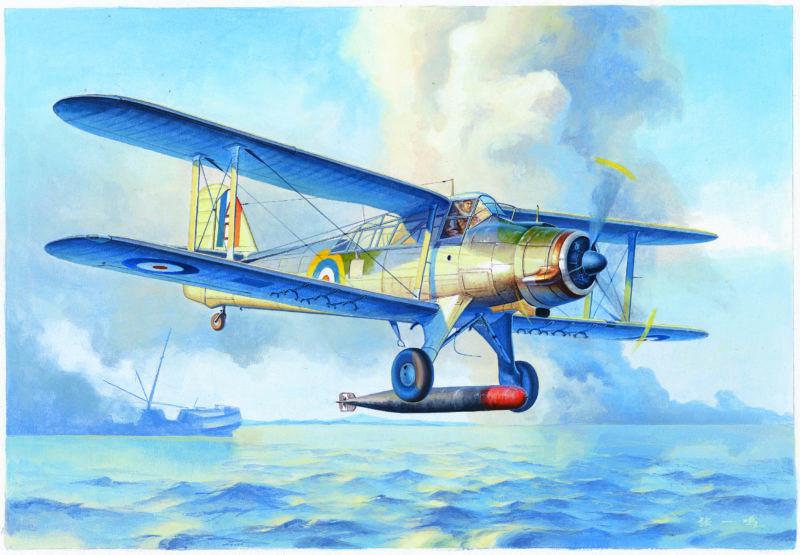 Fairey Albacore Torpedo Bomber 1 48 Plastic Model Kit TRUMPETER