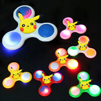 Pokemon Pikachu LED Flash Fidget Spinner Hand Finger Focus EDC Anti Stress Toy