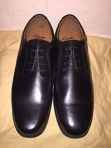 de Clarks de hombre con anchos Zapatos negro para Stride cordones Beeston cuero elegantes cordones qYt8rq
