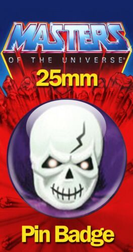 SCARE GLOW FACE 25mm BADGE He-Man and the Masters of the Universe MOTU Image