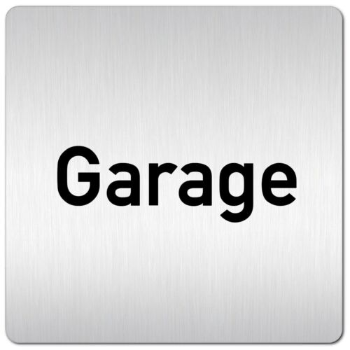 "Aluminium Schild /""Garage/"" 125 x 125 mm • Tiefgarage • Keller • Türschild"