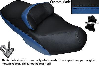BLACK /& ROYAL BLUE CUSTOM FITS SUZUKI AN 650 BURGMAN 02-12 DUAL SEAT COVER