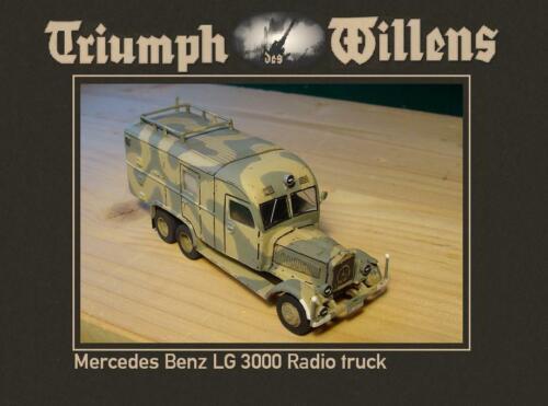 RESIN TDW 1//72 MB LG 3000 Radio Truck