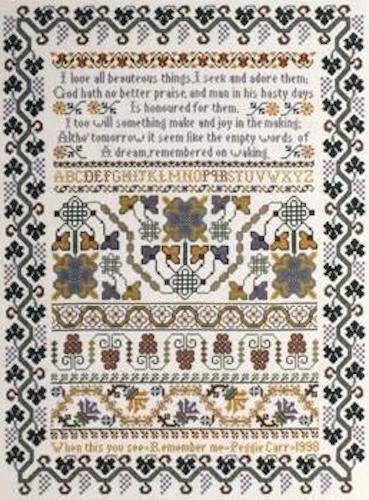 Remember Me Sampler 10/% Off Moira Blackburn Samplers Cntd X-stitch chart