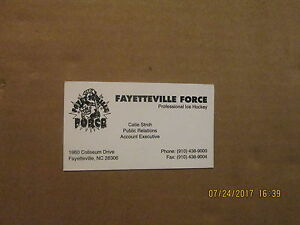 CHL-Fayetteville-Force-Vintage-Defunct-Logo-Hockey-Business-Card