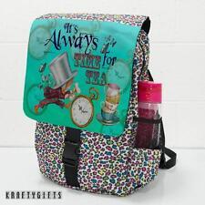 Alice in Wonderland Mad Hatter Large Animal Backpack School Sport Bag NAW04