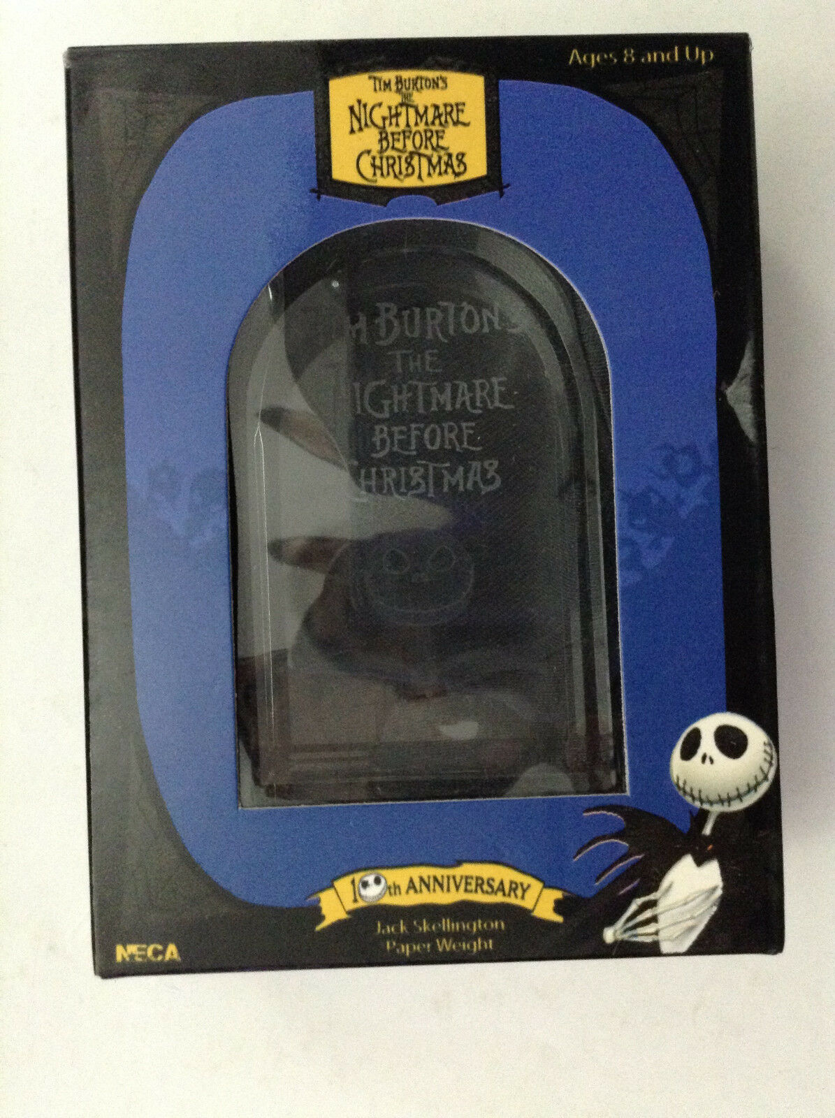 TIM BURTON'S NIGHTMARE BEFORE CHRISTMAS JACK JACK JACK SKELLINGTON PAPER WEIGHT TOMBSTONE1 f8e6f4