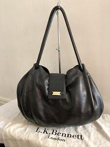 LK-Bennett-Large-Black-Leather-Shoulder-Bag