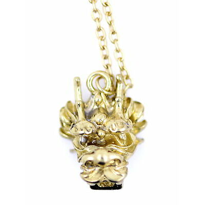 Vintage retro goth style 3D Chinese zodiac dragon head necklace, multiple choice