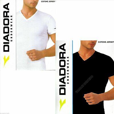 2 T Shirt DIADORA Scollo a V Maglia Intima Cotone Uomo m l xl xxl | eBay