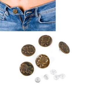 No Sew jeans M/étal Boutons 10PCS