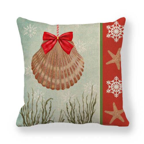 Ocean Benthos Tropical Fish Linen Pillow Case Household Decorative Cushion Cover