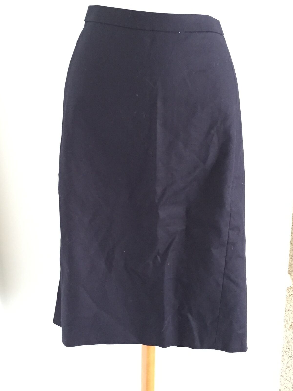 J CREW No. 2 Pencil Skirt in Cotton Twill Size 4 Navy  a2080  79.50