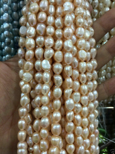 """8-9mmMultiple color size Freshwater Cultured Pearl Loose Beads 13/"""""""