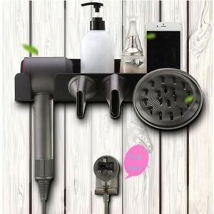 Wall-Mount-Hair-Dryer-Storage-Rack-for-Dyson-Supersonic-Hair-Dryer-amp-Accessory