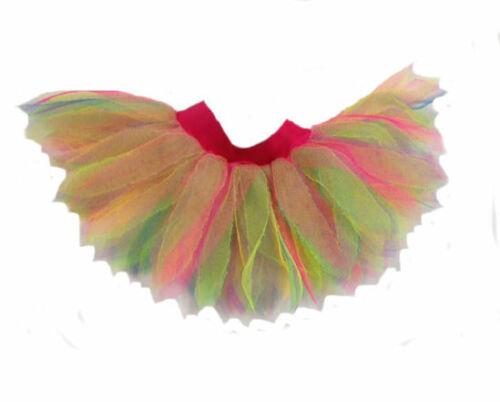 Neon Rainbow Multicolour Styled 6 Layer Tutu 80S FANCY DRESS FUN RUN HEN PARTY