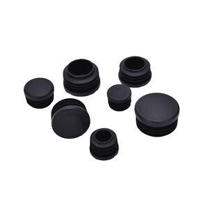 10x plastique bouchon d 39 extr mit insert bouchon bonde pour tube de tuyau rond ebay. Black Bedroom Furniture Sets. Home Design Ideas