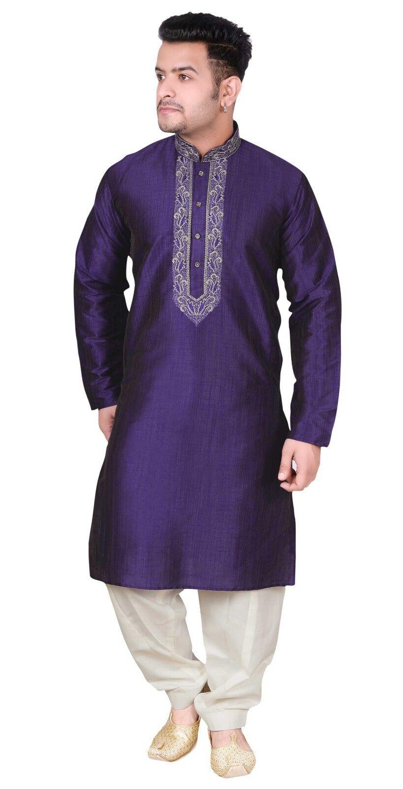 Mens Kurta Pyjama Shalwar Kameez Indian Fancy Dress Bollywood Party Outfit 1851