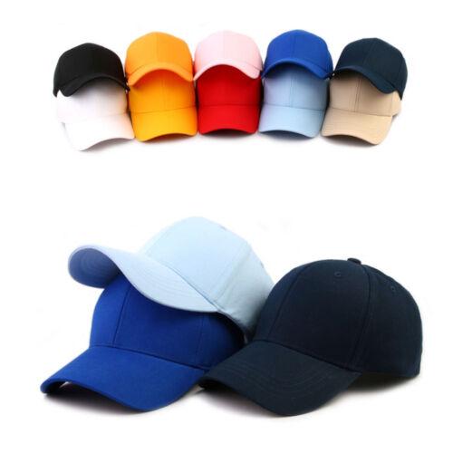 uni einfarbig monochrom Hut Herren Damen Basecap Mützen Baseball Cap Kappe Hüte