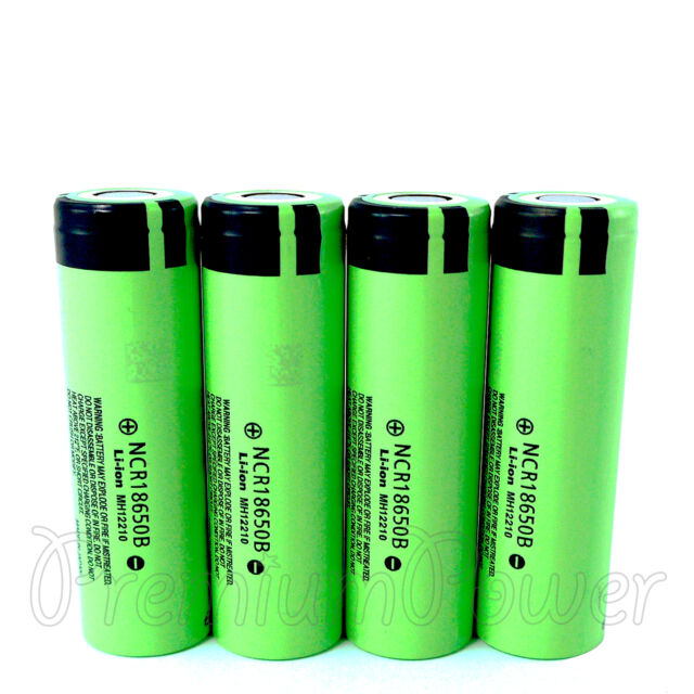 Panasonic Li-ion 18650 batteries NCR18650B rechargeable 3.7V 3400mAh x 1 2 4 PCS