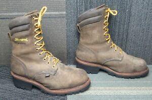 "Mens Thorogood USA Logger Series 9"" CrazyHorse Waterproof Steel Toe Boot 10 EEE"